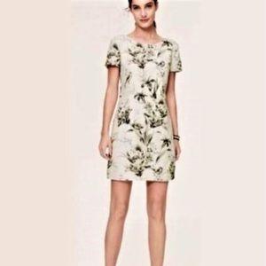 Ann Taylor LOFT floral linen shift dress 10